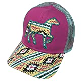 Farm Boy Brand Aztec Pattern Horse Pink Youth Snapback Hat - F83088305MP0ML