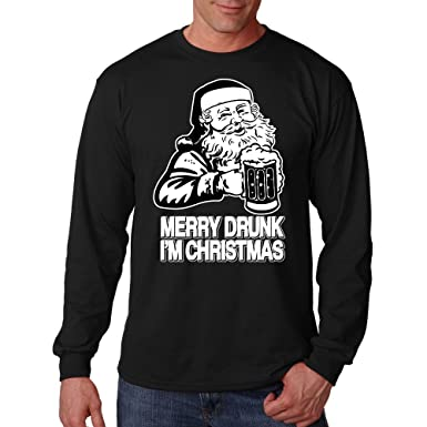 merry drunk im christmas long sleeve shirt santa claus christmas party t sh - Merry Drunk Im Christmas