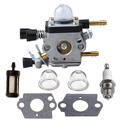 HIPA C1Q-S68G Carburetor for Stihl BG45 BG46 BG55 BG65 BG85 SH55 SH85 Leaf  Blower C1Q-S68 4229 120 0606 Carb with Primer Bulb Spark Plug Fuel Filter