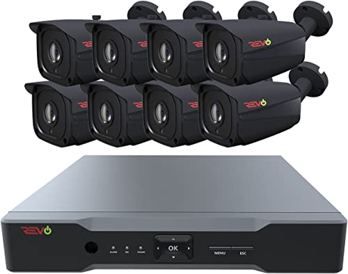 Revo America AeroHD 8Ch. 5MP DVR, 2TB HDD Video Security System, 8 x 5 MP IR Bullet Cameras Indoor Outdoor – Remote Access via Smart Phone, Tablet, PC MAC