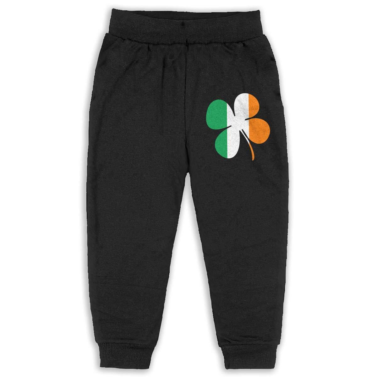 BABALOVE Irish Flag with Shamrocks Youth Soft and Cozy Sweatpants
