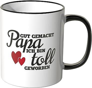 """Lustig Tasse mit Spruch /""""Gut gemacht Papa/"""" Geschenk Vatertag"""