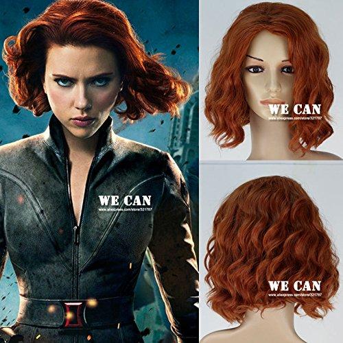 The Avengers Black Widow Wig