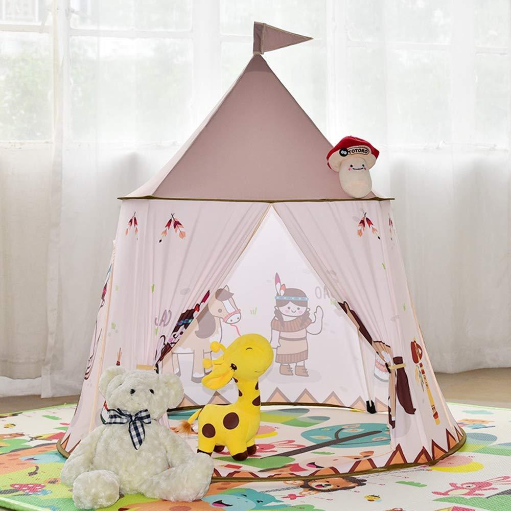 AUNLPB Tenda per Bambini per Principessa Pop up Castello Tenda, per Il Divertimento Interno ed Esterno, ordinatamente Pieghe in Una Borsa per Il Trasporto