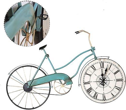 Reloj de Pared Vintage/Reloj de Pared de Bicicleta de Hierro ...