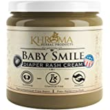 Baby Smile - Organic Soothing Diaper Rash Cream - 2 oz in Glass Bottle - With Lavender, Calendula Flowers, Shea Butter
