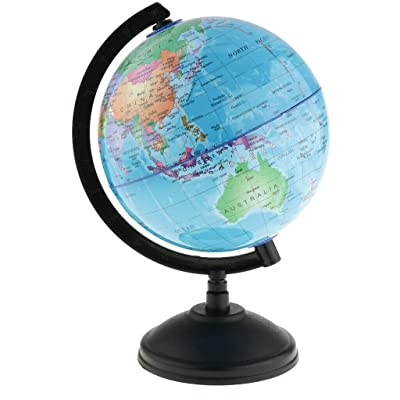 COMFORT INNOVATION 14cm Science World Country Earth Globe Base Geography Swivel Atlas Map Blue: Garden & Outdoor