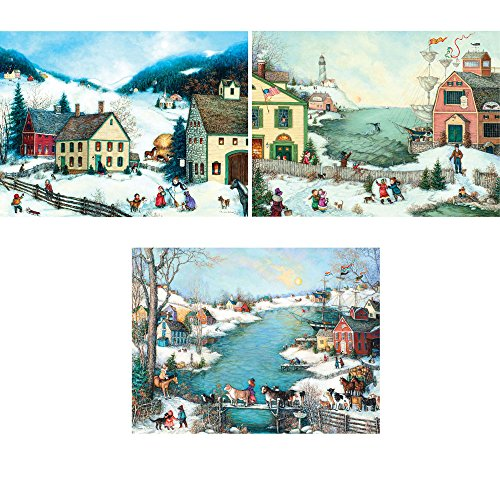 Bits and Pieces - Set of Three (3) 300 Piece Jigsaw Puzzle for Adults 18