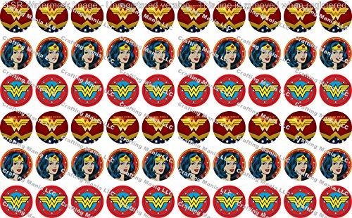 60 Precut Images Wonder Woman Set 2