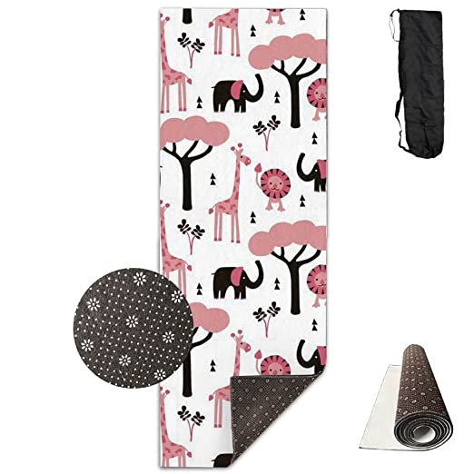 Jirafa Elefante y León antideslizante & Skidless Yoga Mat ...