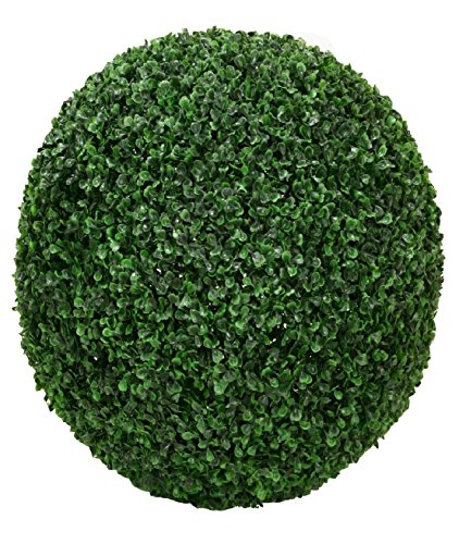 ONE 17.5'' ARTIFICIAL BOXWOOD BALL INDOOR OUTDOOR TOPIARY TREE PLANT POOL PATIO by Black Decor Home