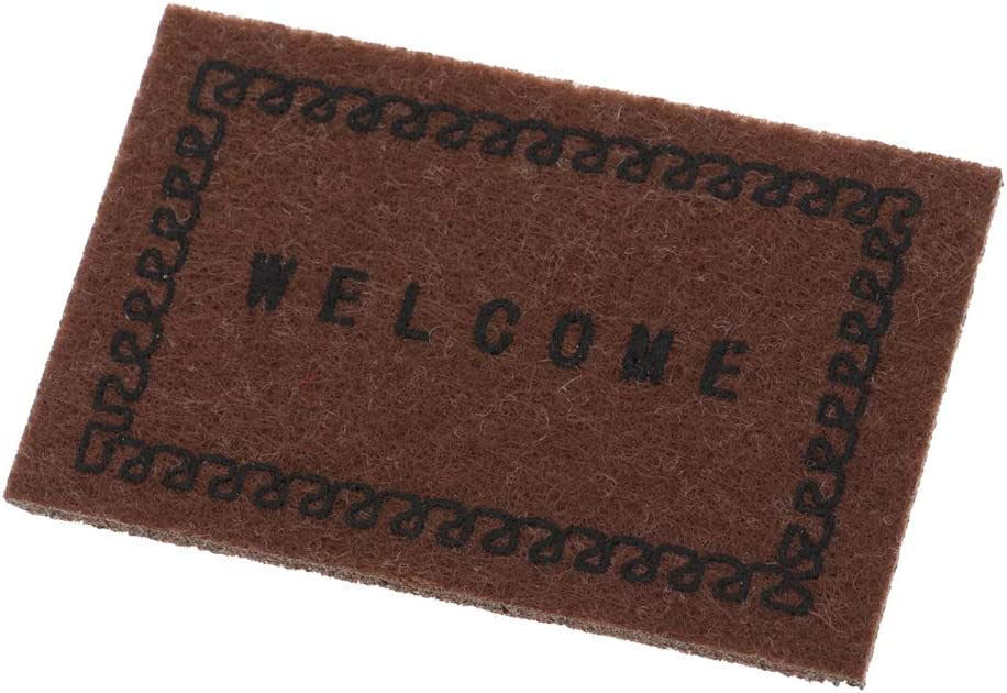 P Prettyia Handmade Welcome Carpet Door Rug Mat Floor Cover for 1//12 Miniature Dolls House Life Scene Simulation Black