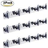 Crochet Stainless Steel 5 Pin Bathroom Cloth Hooks Hanger (HG0302) - Pack of 3