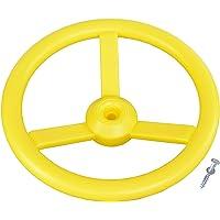 Loggyland Lenkrad für Spielturm, Spielhaus, Spielanlage, Abenteuerbetten, gelb