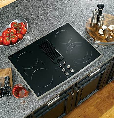 Wonderful GE PP989SNSS Profile 30u0026quot; Stainless Steel Electric Smoothtop Cooktop    Downdraft
