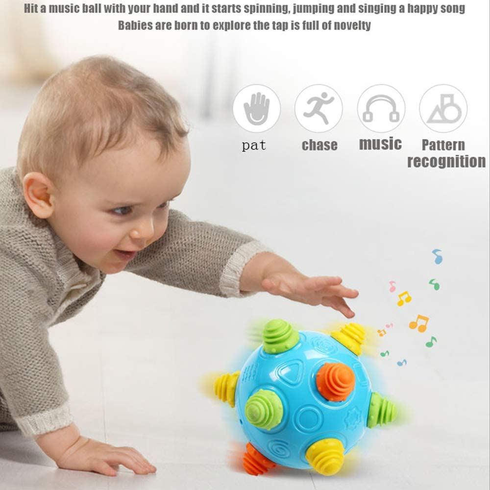 CX TECH Baby Music Shake Dancing Ball Toy Jumping Sensory Toys ...