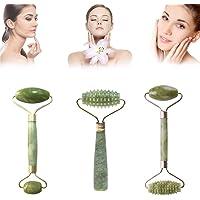 Rodillo de jade masajeador facial para rostro, rodillo