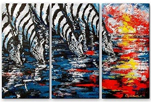 Metal Wall Zebra (Modern Contemporary Zebra Metal Wall Art Painting Sculpture Decor)