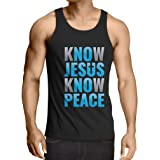 lepni.me Vest Know Jesus Know Peace! Jesus Saves Y'all! - Easter - Resurrection - Nativity, Christian Clothing