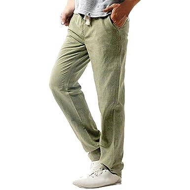 77f00118da22 Ansenesna Herren Hose Langes Bein mit Gummibund Taschen Freizeithose  Einfarbig Jogging Sport Outdoor Hosen  Amazon.de  Bekleidung