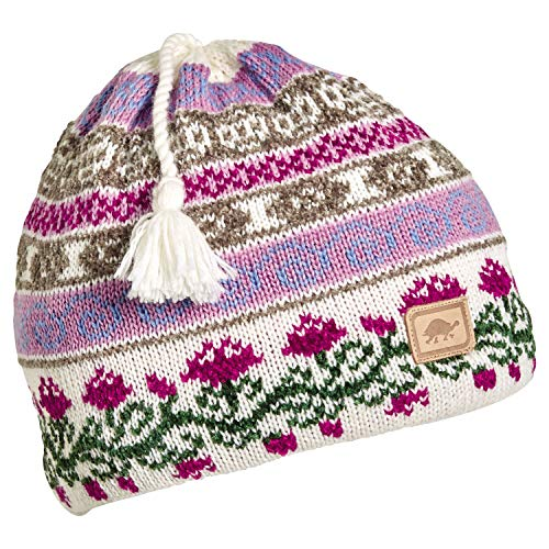 Turtle Fur Lady Fairisle Women's Classic Wool Tassel Ski Hat Pink ()