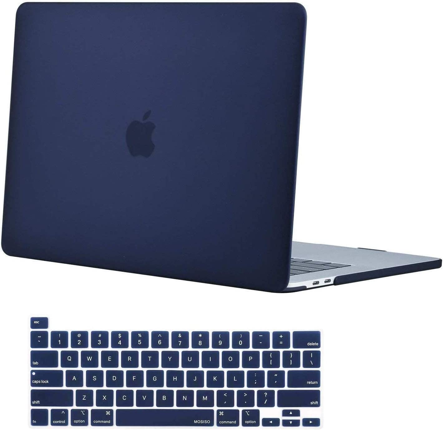 MOSISO MacBook Pro 16 inch Case 2019 Release A2141 with Touch Bar & Touch ID, Ultra Slim Protective Plastic Hard Shell Case & Keyboard Cover Skin Compatible with MacBook Pro 16 inch, Navy Blue