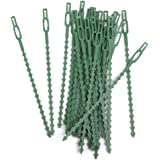 Electomania® 30Pcs 16.5cm Plastic Cable Ties Gardening Clips Plant Ties Plastic Climbing Support Garden Plant Cable Tie (Green)