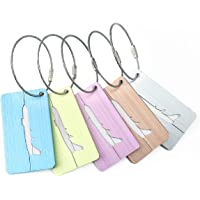 TRIWONDER Luggage Tag with Name ID Card - Aluminum Suitcase Tags Travel Bag Tag Metal Luggage Tags