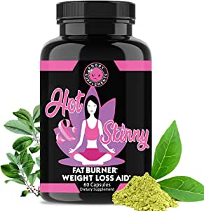 Angry Supplements Hot & Skinny Thermogenic Diet Pills, Weight Loss Capsules for Women, Fast Fat Burning, Non-GMO All-Natural Metabolism Booster, Appetite Suppressant (1-Bottle, 60 ct)