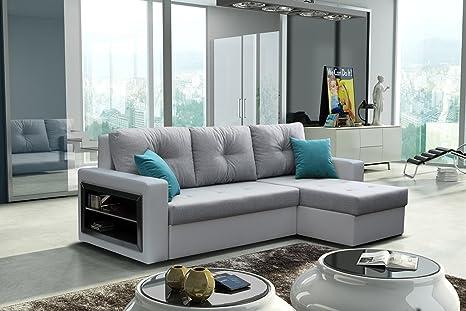 Ufficio Bianco E Grigio : Fortini dormire in bianco e grigio in ecopelle e tessuto divano