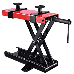 ReaseJoy 500kg(1100lbs) Max Motorbikes Lift Motorcycle Bike Motorbike Stand Lifting Scissor Lift Stage