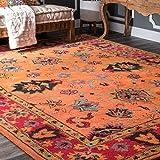 nuLOOM SPRE21A Hand Tufted Montesque Wool Rug, 6' x 9', Orange