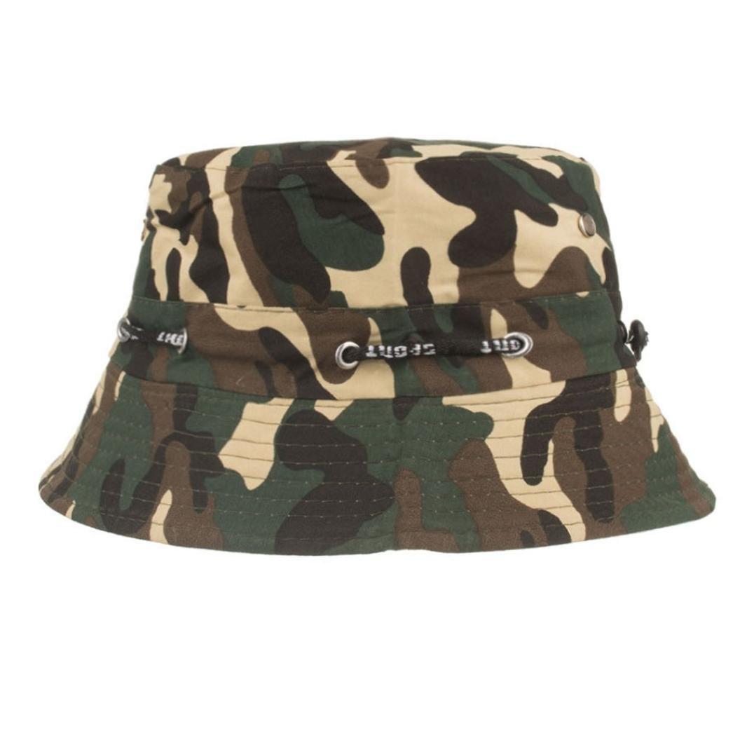 1727dd16615 Bucket Hats Jamicy Women Men Camouflage Adjustable Cap Hats Army Sport  Casual Hip Hop Fisherman Hat (Black)  Amazon.co.uk  Clothing