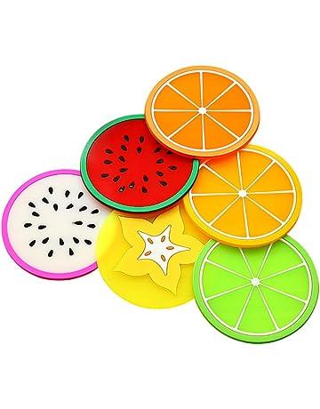 Daliuing Prácticos de costa coloridos de la forma de la fruta de la jalea 6 unidades