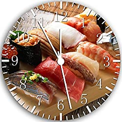 Japanese Sushi Borderless Frameless Wall Clock W125 Nice For Decor Or Gifts