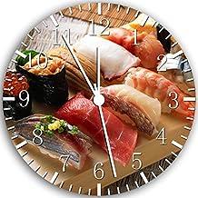 Japanese Sushi Borderless Frameless Wall Clock W125 Nice For Decor Or Gifts
