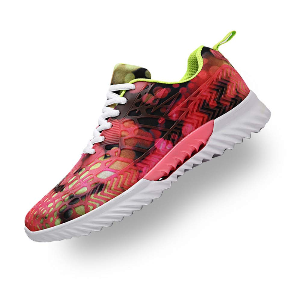 Hasag Chaussures de Sport Nouveau Chaussures Homme Casual Mesh Chaussures Homme Camouflage Mesh Casual Couples Chaussures Femme 45|Red and green 0cb5ed