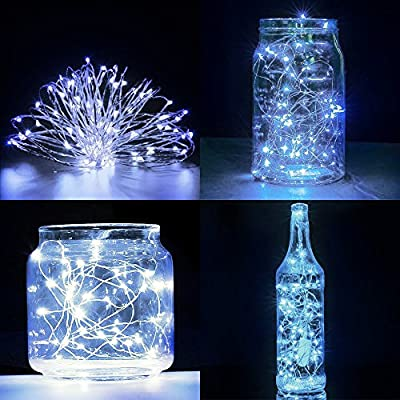 Fairy String Lights with Screwdriver, SENHAI Set of 6 LED Lights Silver Wire, 20 LED Bulbs for Bedroom House Party Wedding Concert Festival Halloween Christmas Tree Decoration -Cool White: Home Improvement