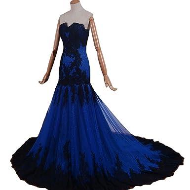 Amazon Kivary Gothic Black Lace Mermaid Long Formal Corset