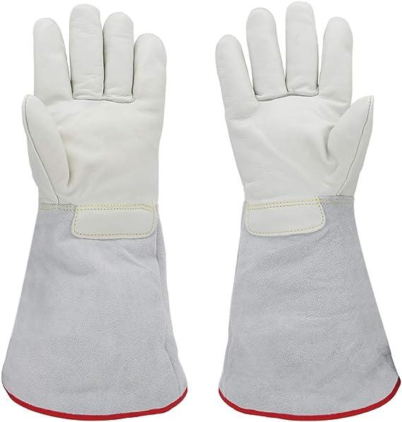"NEW White Mid-length Nylon Gloves 15/"" from fingertip to top of glove"