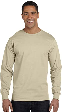 Hanes Long Sleeve Beefy T-Shirt 5186