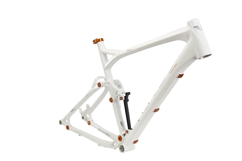 VOTEC VX120 - MTB Trail/Touren Rahmen (WW) - white/orange ...