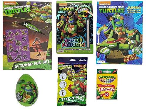 TMNT Easter Basket Filler Starter Gift Kit - Bundle of 6 Items - 4