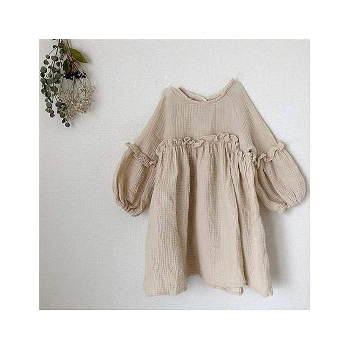 Amazon.com: Elecouble - Vestido de lino para niña: Clothing