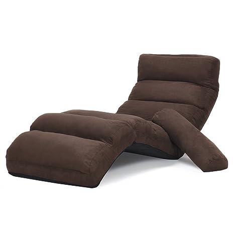 Amazon.com: Folding Adjustable Lazy Sofa Couch Chair Stylish ...