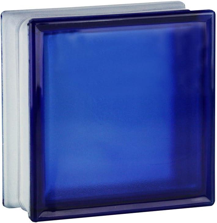 5 St/ück FUCHS Glassteine Riva Blau 19x19x8 cm