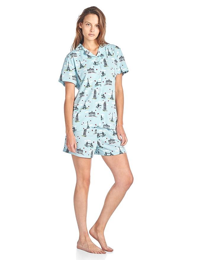 BHPJ By Bedhead Pajamas Womens Soft Knit Short Sleeve Pajama Shorts Set at Amazon Womens Clothing store: