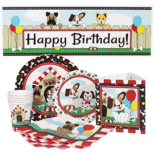 Birthday Direct Dog Party Package for 16 (Dog Birthday Decorations)