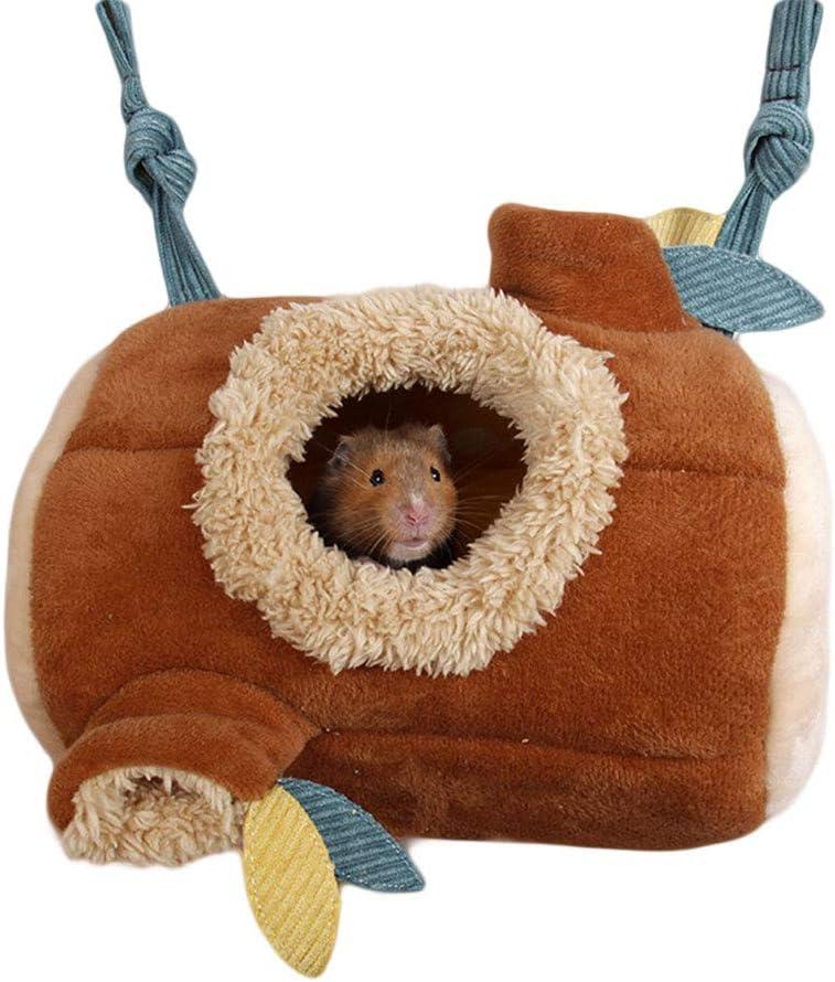 Oncpcare Hamster Cama casa Hamaca, patrón de Bosque Colgante Pet Cama Juguete, pequeño Animal Ropa de Cama Jaula Accesorios Nido para cobayas Cerdos Ratas azúcar Glider