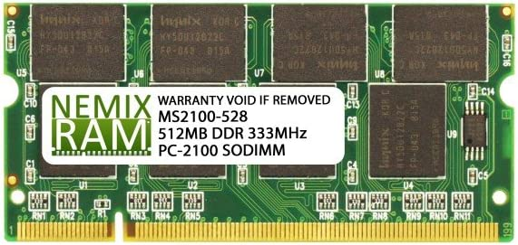512MB DDR 266MHz PC2100 200-pin SODIMM Laptop Memory RAM